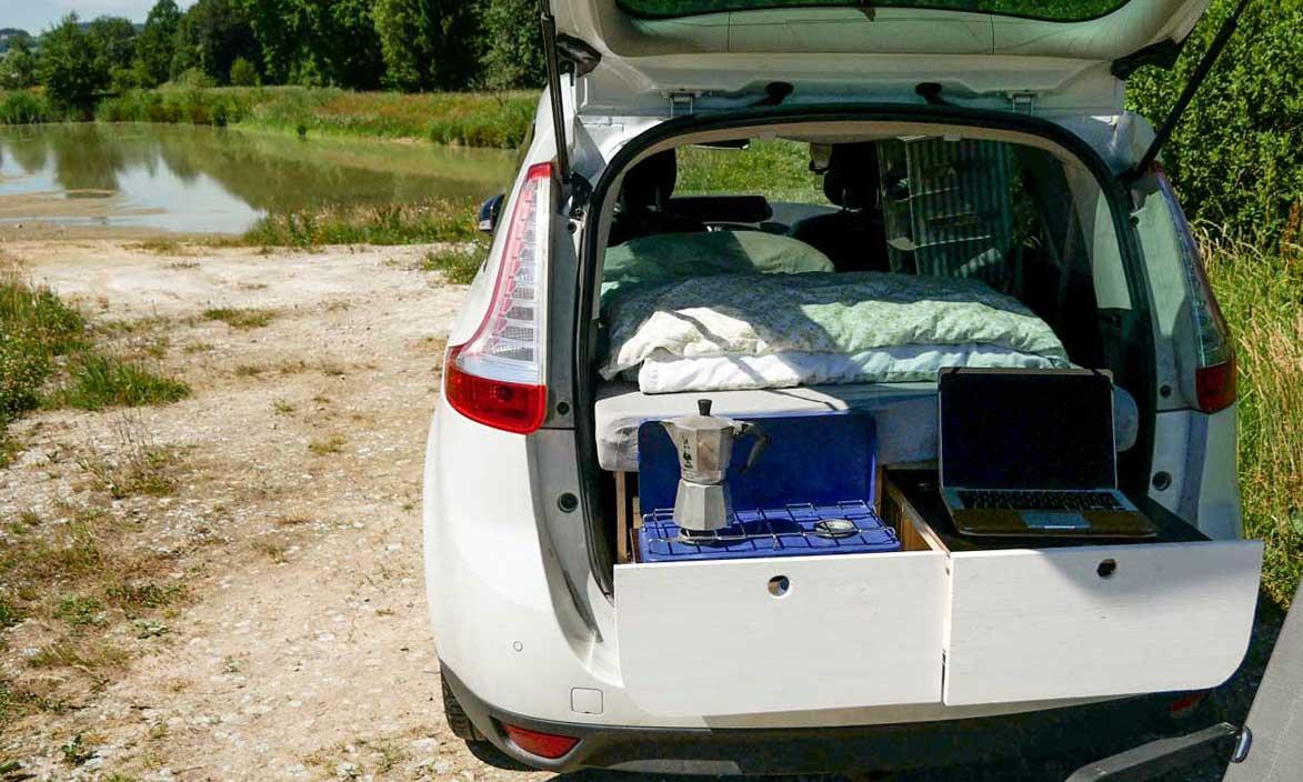 auto ausbau vom van zum mini camper made by myself. Black Bedroom Furniture Sets. Home Design Ideas