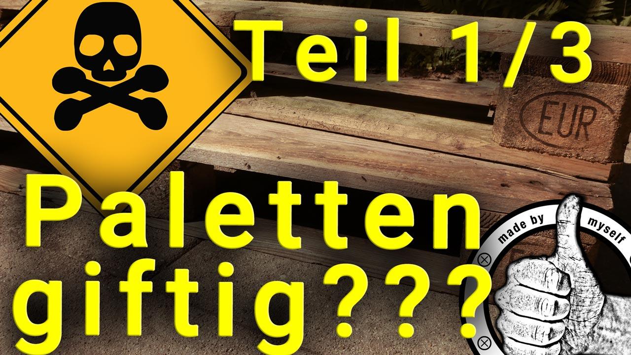 Sind EPAL Europaletten oder Paletten giftig oder gesundheitsschädlich?