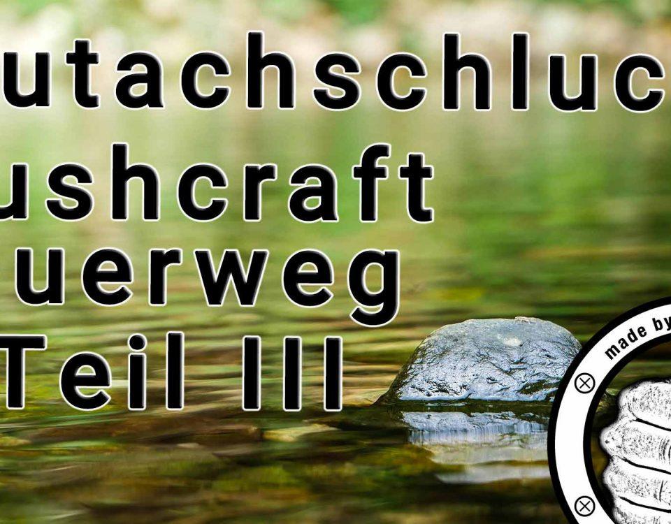 Die Bushcraft Wanderung über den Querweg von Freiburg an den Bodensee führte mich in der dritten Etappe durch die Wutachschlucht