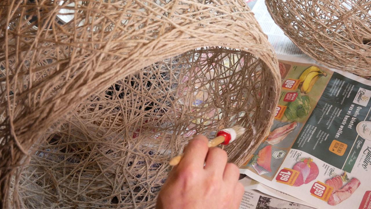Acrylbinder Selber Machen : diy fadenlampe lampenschirm selber machen made by myself dein diy heimwerker blog ~ Yasmunasinghe.com Haus und Dekorationen