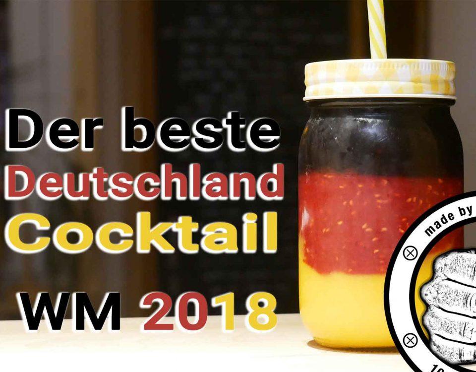 Der Deutschland WM Smoothie kann man als Variante mit und ohne Alkohol zaubern