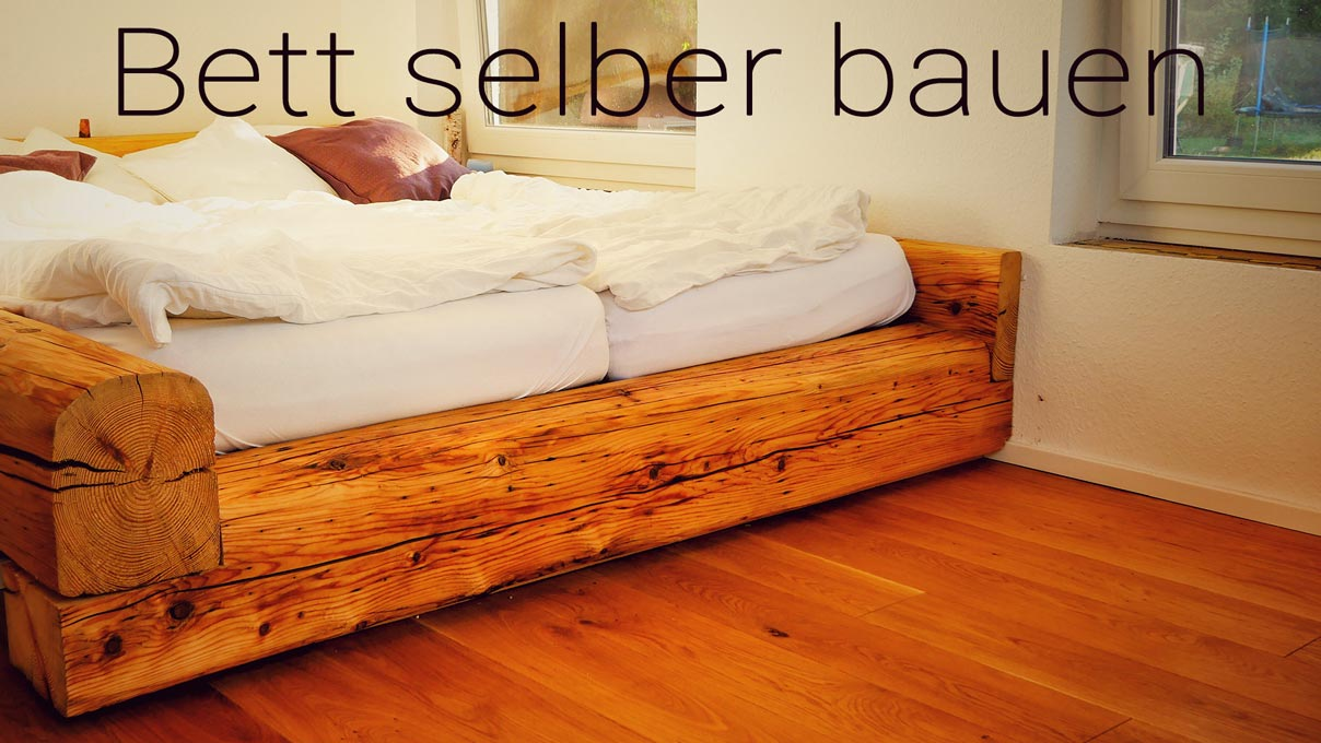 balkenbett bett selber bauen made by myself dein diy heimwerker blog. Black Bedroom Furniture Sets. Home Design Ideas
