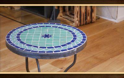 Mosaiktisch – Tisch aus Mosaik selber machen