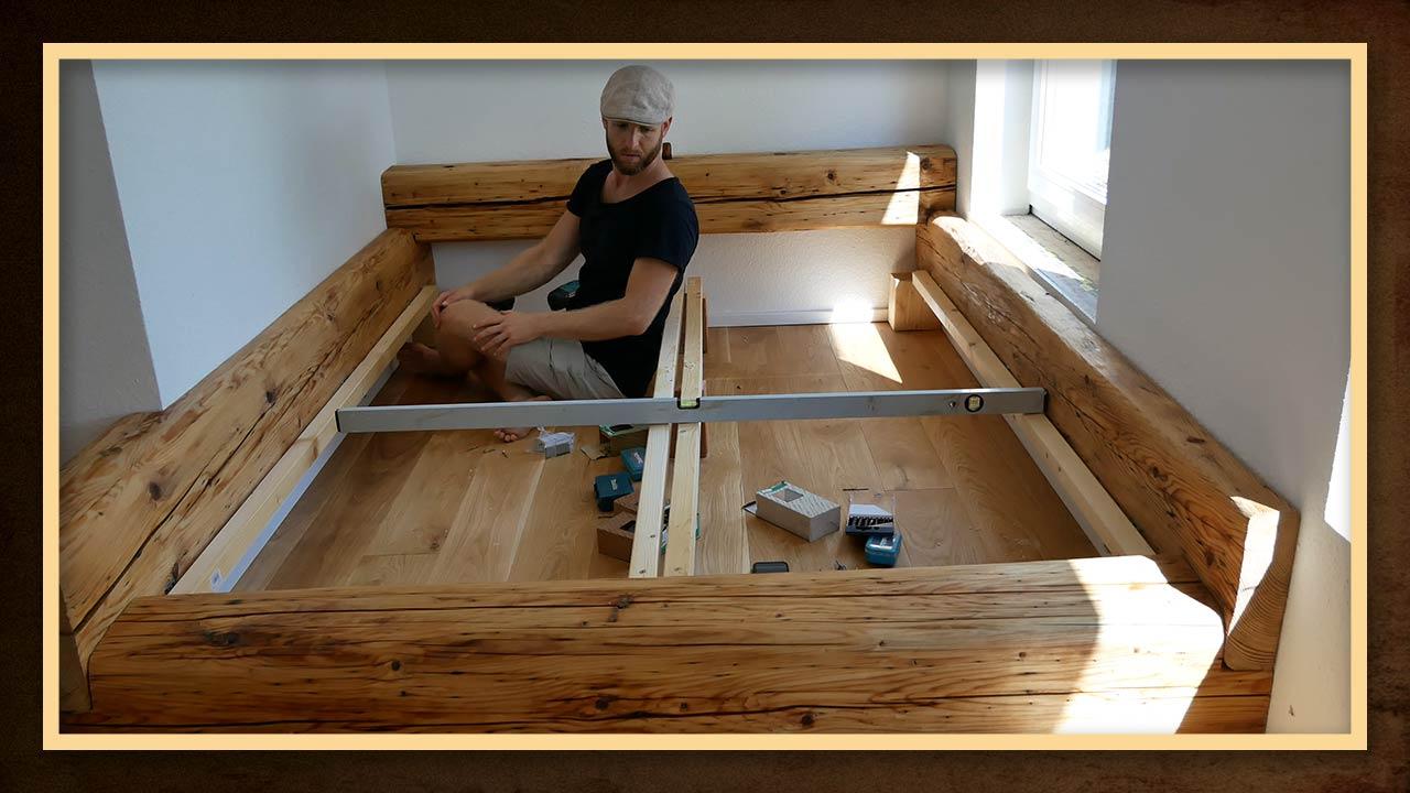 Schwebend selber bauen bett Schwebendes Bett