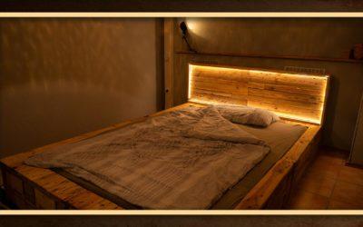 Palettenbett – Bett aus Paletten bauen