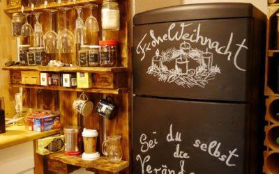 Tafelfarbe – Kühlschrank mit Tafellack streichen